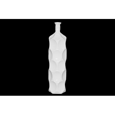 Urban Trends White Ceramic Bottle