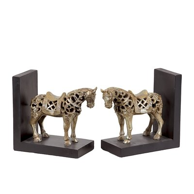 Urban Trends Resin Horse Bookend