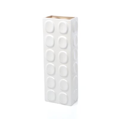 Urban Trends White Ceramic Vase I in Matte