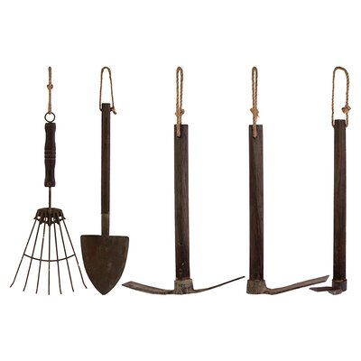 Wooden Garden Tools (Set of 5)