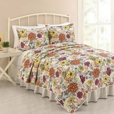 <strong>Peking Handicraft</strong> Ginger 3 Piece Quilt Set