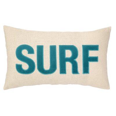 Peking Handicraft Nautical Applique Surf Pillow