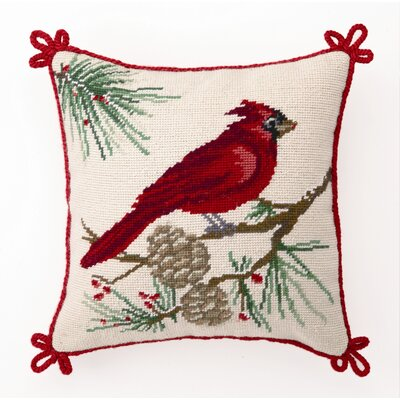 Cardinal Wool / Cotton Pillow