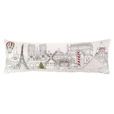 Peking Handicraft Christmas in Paris Embroidery Pillow
