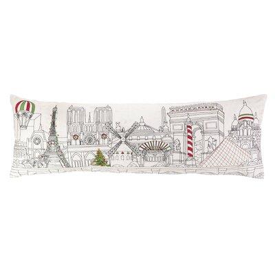 Peking Handicraft Christmas in Paris Embroidery Pillow