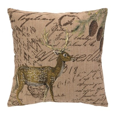 <strong>Peking Handicraft</strong> Deer Burlap Pillow
