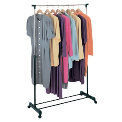 Richards Homewares Free Standing Storage Rolling Adjustable Garment Rack Clothes Hanger