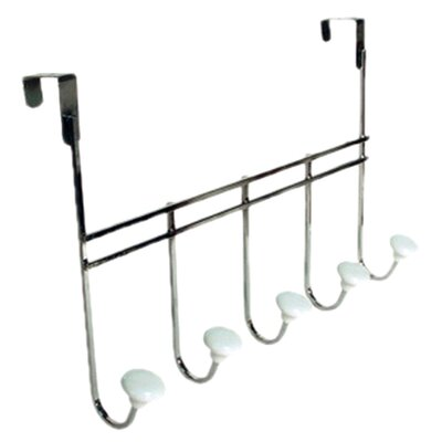 <strong>Richards Homewares</strong> Retro / Ceramic Over the Door 5 Hook Rack