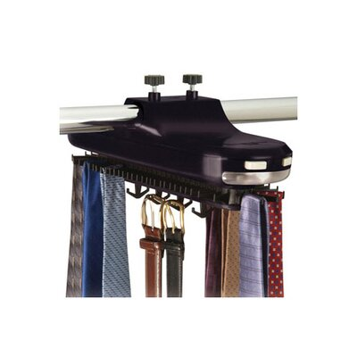 <strong>Richards Homewares</strong> Revolving Motorized Lighted Tie and Belt Rack Hooks Organizer