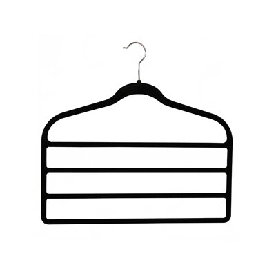 Richards Homewares Soft Grip 4 Tier Trouser Hanger (Set of 3)