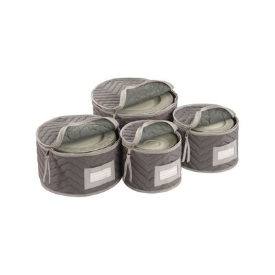 Richards Homewares Tabletop Storage Deluxe/Micro Fiber Plate Case (Set of 4)
