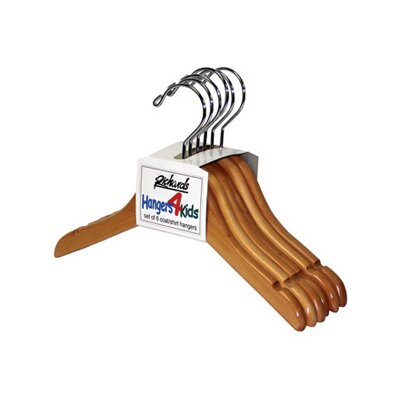 Wood Children's Shirt / Coat Hangers (Set of 6)