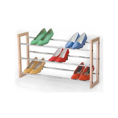 3 Tier Chrome Expandable Shoe Rack