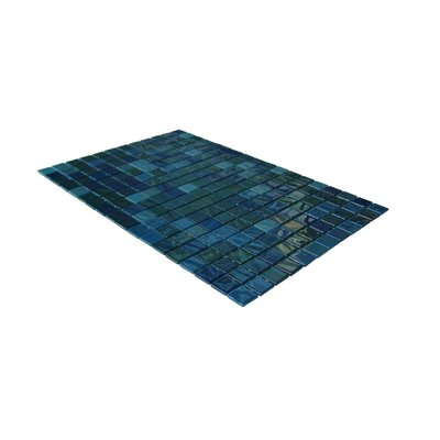 "Onix USA Opalo 1"" x 1"" Glass Mosaic in Iridescent Blue"