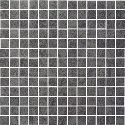 "Onix USA Earth Glass 13"" x 13"" Mosaic in Basalt"