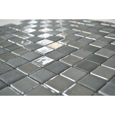 "Onix USA Stone Glass Opalo 13"" x 13"" Mosaic in Grey"