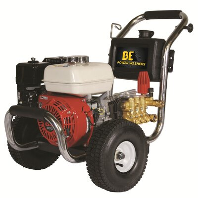 BE Pressure 2500 PSI 3 GPM Cold Water Stainless Steel Cat Pump Pressure Washer