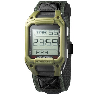 Recon Men's Rectangular Face Digital Watch