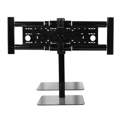"AVF Nexus Floating Flat Panel Corner Mount with AV Component Shelving Screens (36"" - 70"" Screens)"