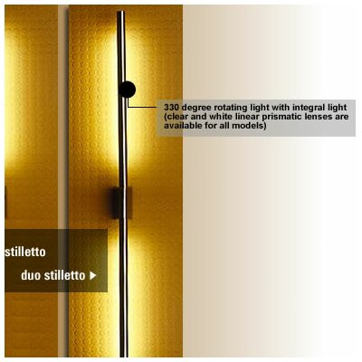 LumenArt Stilletto Duo 2 Light Wall Sconce
