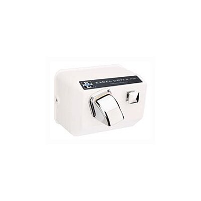 Excel Dryer Push Button Surface Mounted 277 Volt Hand Dryer in White