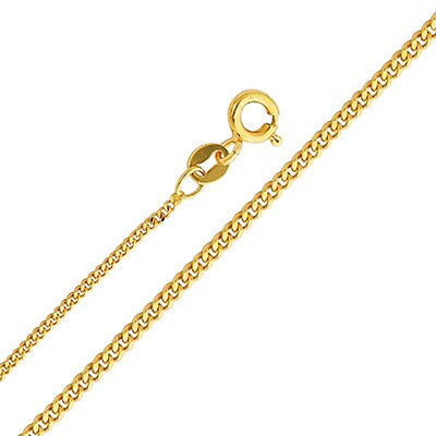 14kt Yellow Gold 1.3mm Curb Chain