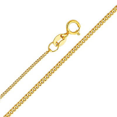 14kt Yellow Gold 0.9mm Curb Chain