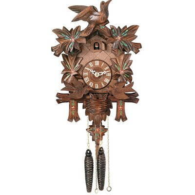 River City Clocks Cuckoo Clock with Moving Birds, Feed Nest, Painted Flowers
