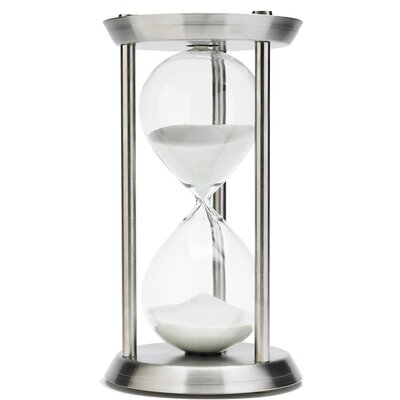 River City Clocks 60 Minute Hourglass in Stainless Steel