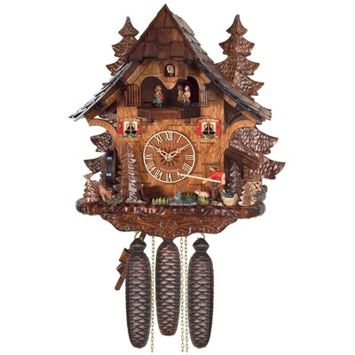 Eight Day Musical Cottage Cuckoo Wall Clock