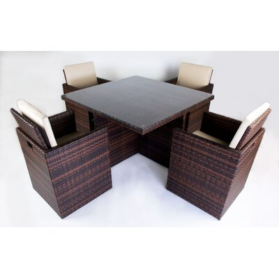 BOGA Furniture Boston Cube 5 Piece Dining Set