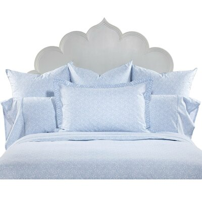 John Robshaw Floret Light Indigo 200 Thread Count Flat Sheet