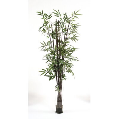 Faux bamboo floor plant in decorative vase wayfair for Faux bambou plante