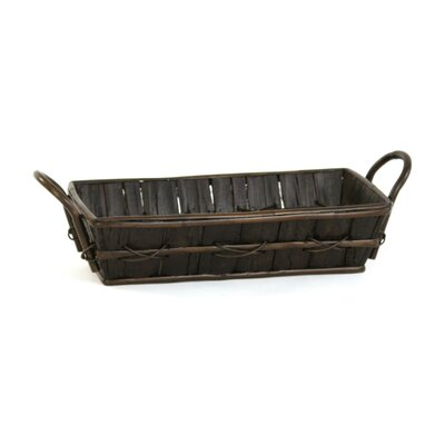 Large Rectangular Rustic Woodbark Basket