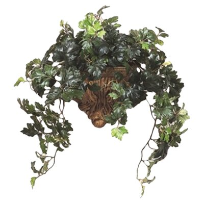 Silk Grape Ivy Hanging Plant in Planter (Set of 2)