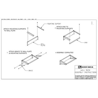 Chatsworth Extra Capacity Flush Wall Mounted Bracket