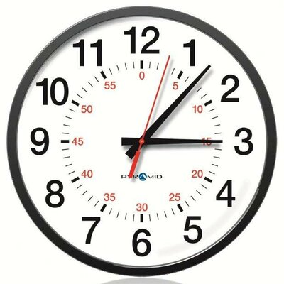 "Pyramid 13.25"" Wireless Analog Wall Clock"