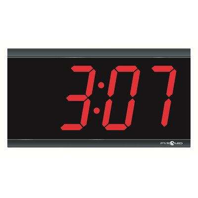 Pyramid 4-Inch 4 Digit Red LED Hard Wired Digital Clocks