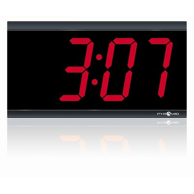 "Pyramid 4"" 4 Digit LED 120V Wireless Clock"