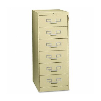 Tennsco Corp. Tennsco Six-Drawer Multimedia Filling Cabinet