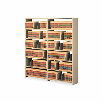 "Tennsco Corp. Snap-Together Open Shelving 6-Shelf Closed Add-On, 48"" Wide"