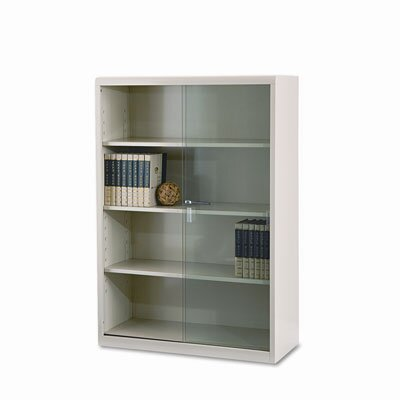 Tennsco Corp. Executive Steel Bookcase with Glass Doors, 4 Shelves