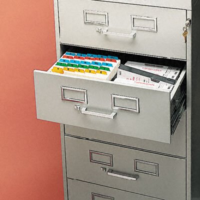 Tennsco Corp. 7-Drawer Multimedia Cabinet for 5 X 8 Cards