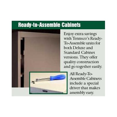 "Tennsco Corp. Jumbo Storage Cabinet (18"" Depth)"