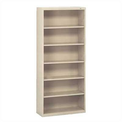 "Tennsco Corp. Welded 78"" H Six Shelf Bookshelf"