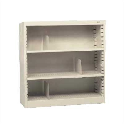 "Tennsco Corp. KD 42"" H Three Deep Shelf Bookcase"