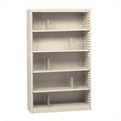 "Tennsco Corp. KD 60"" H Five Deep Shelf Bookcase"