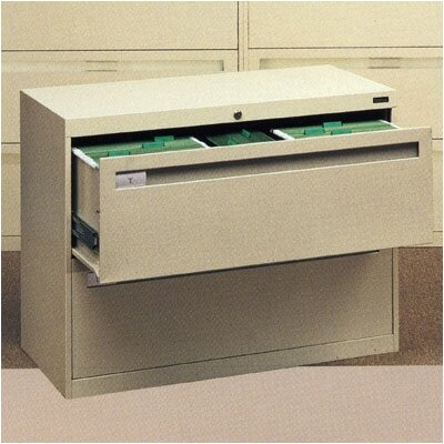 Tennsco Corp. Lateral File With 2 Drawers With Retractable Doors