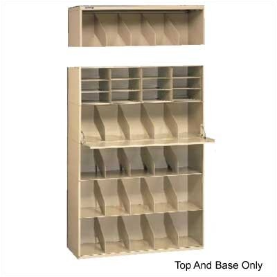 Tennsco Corp. Letter Size Stackable Filing System, Base & Top