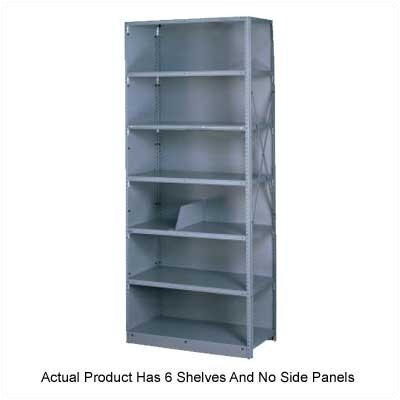 "Tennsco Corp. Q Line Open 87"" H 6 Shelf Shelving Unit Starter"